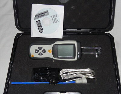As New DT-8890 Digital Differential Pressure Manometer 0-35kPa in Carry Case