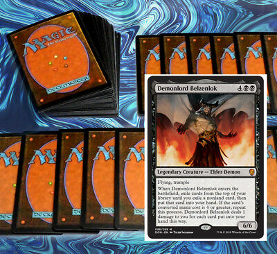 mtg RED BLACK STANDARD DECK Magic the Gathering rares 60 cards DOM josu vess