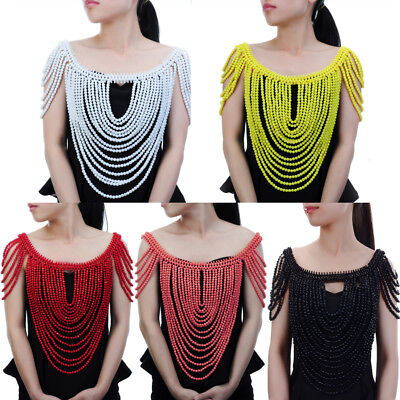 Fashion Jewelry Body Chain Resin Beads Chunky Statement Armor Harness Necklace