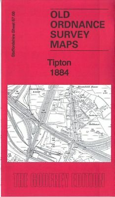 Old Ordnance Survey Map Tipton 1884 Bloomfield Princes End Summer Hill Coseley