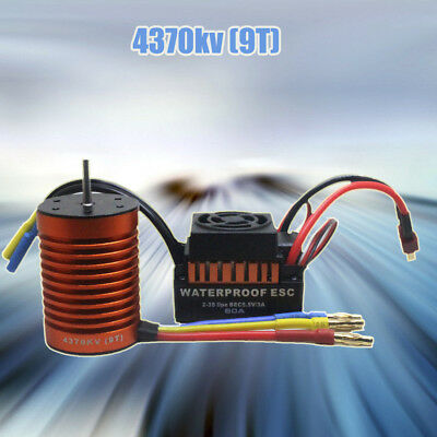 9T 4370KV Brushless Motor AND 60A ESC Speed Controller Combo ME720 For 1/10 RC