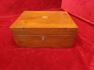 Victorian Writing Slope/ Box   And Key