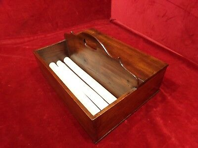 Antique English Mahogany Georgian Candle Cutlery  Box