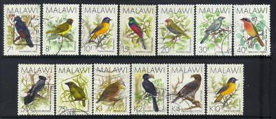 Malawi 1988 Birds 13 Used Values Cat £27+