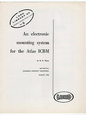 "1958 Vintage Brochure: ""An Electronic Mounting System For The ATLAS ICBM"""