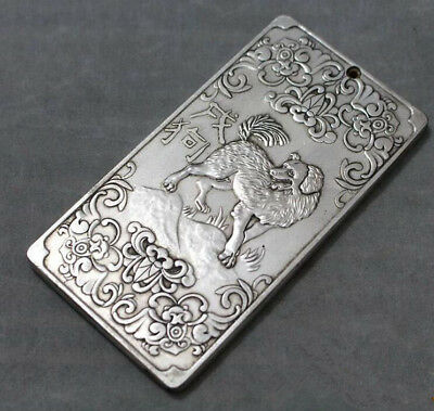 Token statue China tibet Silver old Zodiac Waist tag Chinese Zodiac Monkey
