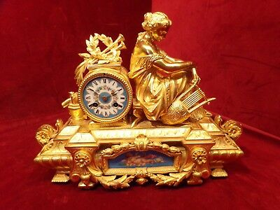 Antique French 19th c Japy Freres Mantle Clock