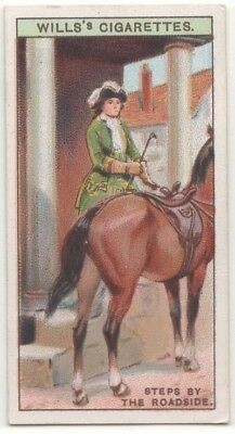 Stone Steps On Roadside For Help Mounting Horses 90+  Y/O Ad Trade Card
