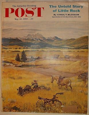 Saturday Evening Post May 23 1959 Little Rock Ads +++ Pepsi Lucky Stanley Tools