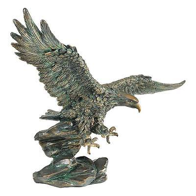 """Design Toscano 15½"""" Wingspan Victory's Eagle Statue With Antique Bronze Finish"""