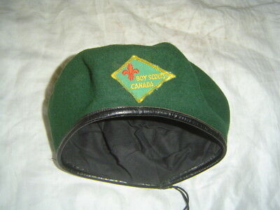 Boy Scout green beret hat Boy Scout of Canada