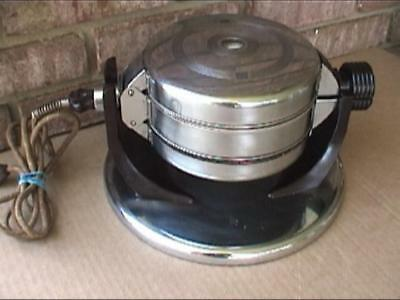 Rare Vintage Manning-Bowman Art Deco No. 5050 Twinover Waffle Iron Maker Working