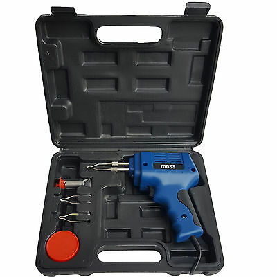 100W Electric Soldering Iron Solder Gun Kit + 3 Tips + Case 100 Watt 240V