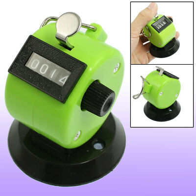 Golf Pitch Count 4 Digit Number Clicker Portable Tally Counter Apple Green