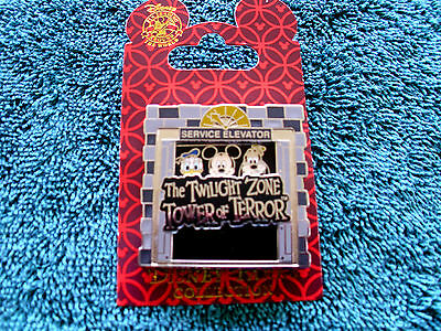 Disney * Tower of Terror - Mickey Minnie Donald Slider * New on Card Trading Pin
