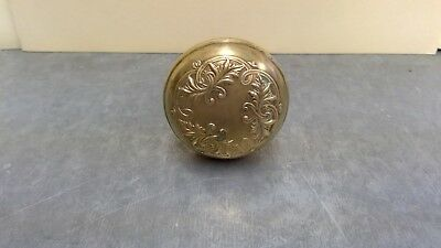 Ornate Antique Solid Brass Single Door Knob Victorian