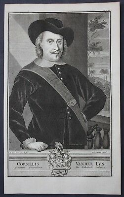 1726 Cornelis van der Lijn Dutch East Indies Portrait engraving Valentijn Asia