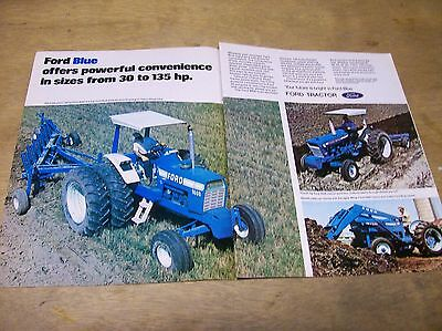 Original 1974 Ford Tractor 2-Page Magazine Ad - Ford Blue...