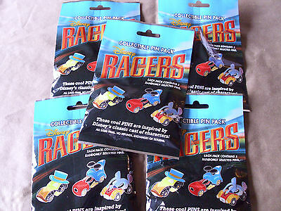 Disney * RACERS CHARACTER CARS * 5 PACKS * 5-pin Collectible Mystery Pack Pins