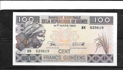 GUINEA #35c 2015 UNC MINT 100 FRANC NEW CURRENCY BANKNOTE BILL NOTE PAPER MONEY