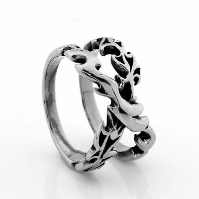 Fashion Mens Heavy Stainless Steel Gothic Punk Claw Finger Rings Jewelry #9-13