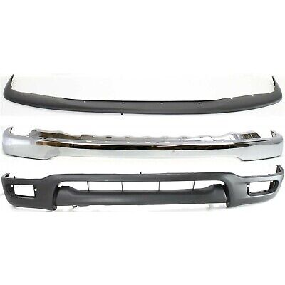 New Complete Front Bumper Air Deflector Combo Kit For 2001-2004 Toyota Tacoma