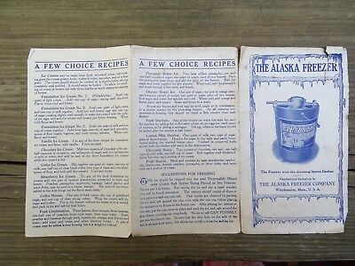 RARE 10s ORIG THE ALASKA FREEZER CO WINCHENDON MA ILLUS SALES BROCHURE ICE CREAM