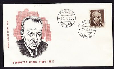 "Italy 1966 Benedetto Croce ""Milvio""  First Day Cover Unaddressed"