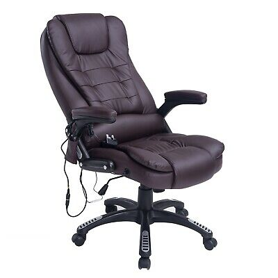 Deluxe Reclining Office Chair 6-Point Massage High Back Swivel Chair