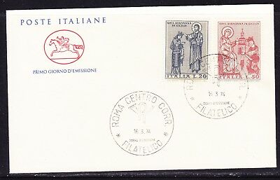 "Italy 1974 Norman Art in Sicily ""Official"" First Day Cover Unaddressed"