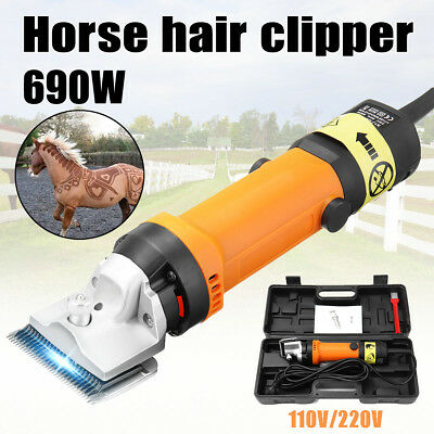 Durable Electric Animal Clipper Heavy Duty Horse Dog Pet Shearing 690W SOLOOP