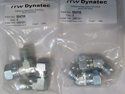 4 TOTAL ITW DYNATEC (2x 704708, 2x 804709) 45 & 90 DEGREE ELBOWS UFD SYSTEM
