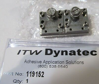 New Itw Dynatec  Industrial Ufd Line Hot Melt Glue Double Spray Nozzle 119152