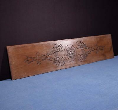 """*41"""" French Antique Hand Carved Architectural Panel Solid Oak Wood Trim"""