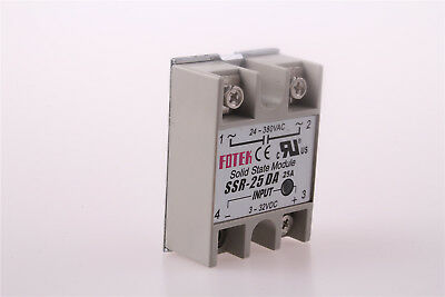 SSR 25A/40A Solid State Relay Amp Model Input DC/3-32V Output AC/24-380V