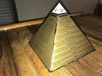 Luxor Hotel Casino Vintage Advertising Pyramid Shaped Table Tent Las Vegas Nv