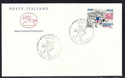 "Italy 1990 3200 Lira Greco Roman Wrestling  ""Official"" First Day Cover"