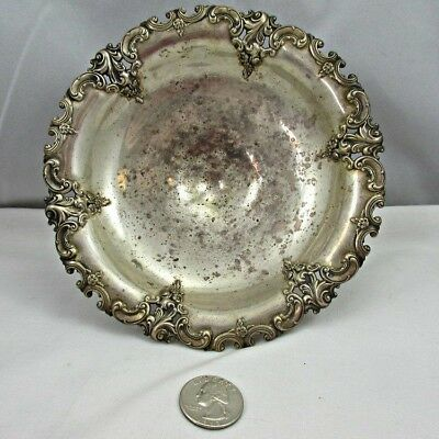 Antique Wallace Sterling Silver Grande Baroque 4781 Short Compote