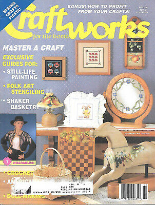 Craftworks For Home Magazine April 1991 Patterns Idea Book Crafts Stenciling