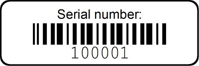 1000 Serial Bar Codes Poly BOPP Plastic Labels Weather & UV Resistant Stickers
