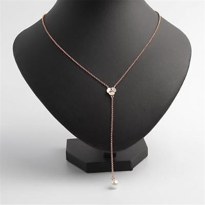 Kate Spade New York Disco Pansy Pearl & Mother of Pearl Y Necklace Rose Gold