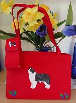 Border Collie Dog Hand Painted Purse One of a Kind -for you!