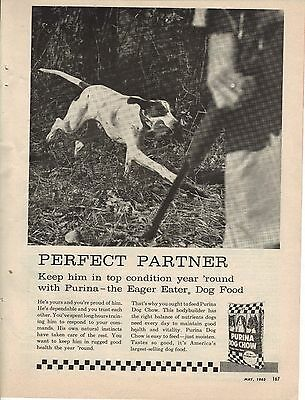 Original 1962 Purina Dog Chow Magazine Ad
