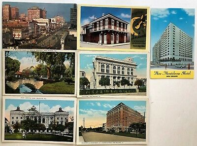 # 9809T    New Orleans,  La.  Postcard Lot,   7  Dif.   Cards