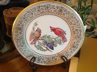 Lenox Boehm (1976 Collector Plate/pamphlet/Gold Outer Box (CARDINAL)