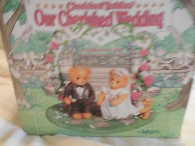 """Cherished Teddies """"Our Cherished Wedding""""  Cake Topper or Display"""