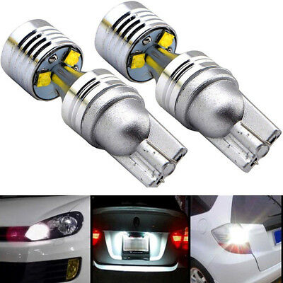 2X T10 194 W5W 30W 6SMD White LED Car Xenon HID Width Wedge Light Bulb Canbus