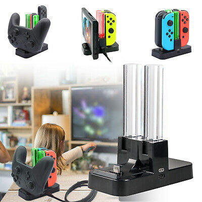 For Nintendo Switch Joy-Con&Pro Controller Charging LED Stand 4in1 Charger Dock