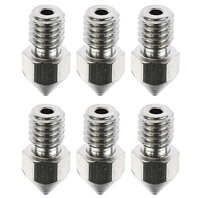 5Pcs 3D Printer M6 Stainless Steel Nozzle Head 0.3 0.6 0.8mm For 1.75mm Filament