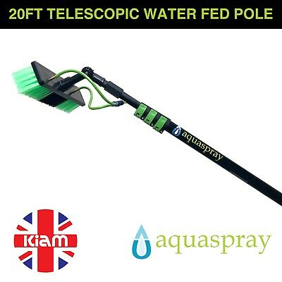 Aquaspray 20ft Telescopic Water Fed Pole Lightweight Window Cleaning Water Spray